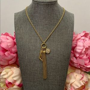 J.Crew Tassel and Charms Necklace